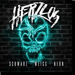 Cover: Herzlos - Schwarz-Weiss-Neon
