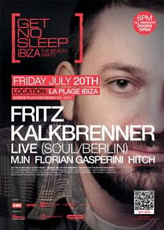 Get No Sleep Ibiza: Fritz Kalkbrenner