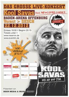 Kool Savas kommt zum Newcomer Chance Finale 2012