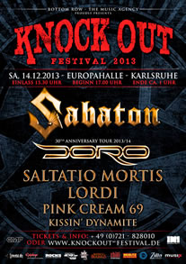 KNOCK OUT FESTIVAL am 14.12.2013 in Karlsruhe