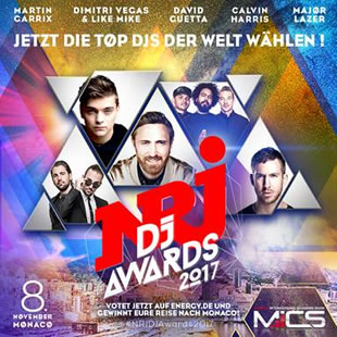 NRJ DJ AWARDS 2017 am 08. November in Monaco