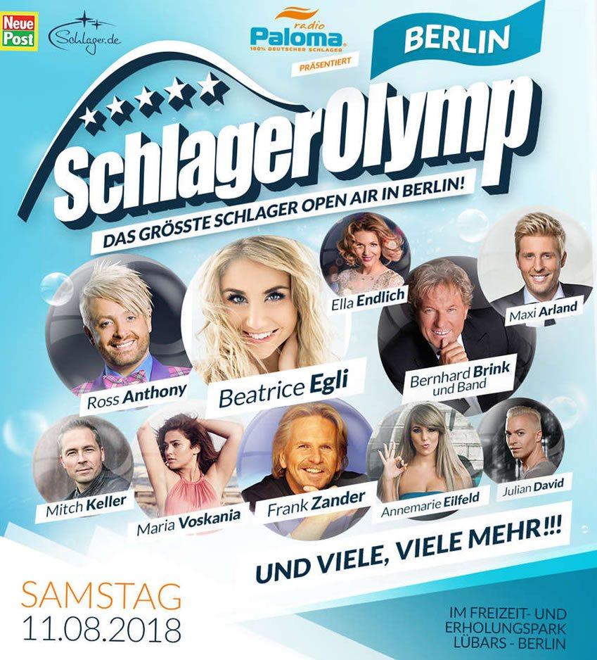 SchlagerOlymp 2018 - Das Schlagerfestival in Berlin