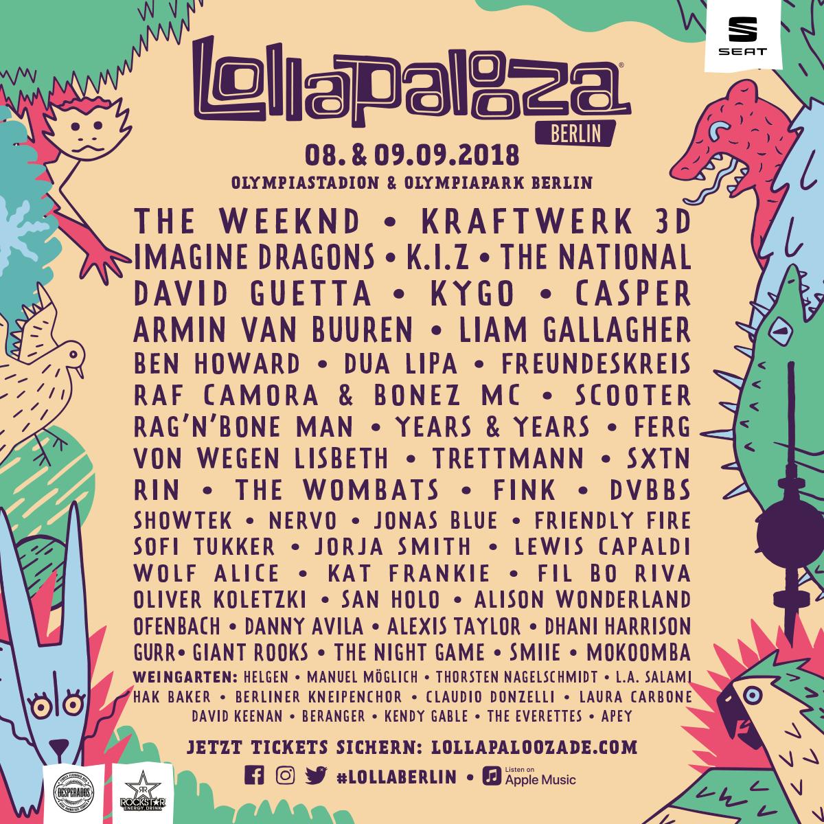 Lollapalooza 2018 - starkes Line-Up in Berlin