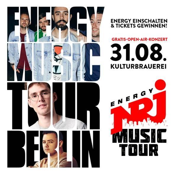 'ENERGY Music Tour 2018' mit James Arthur, Namika & Alma