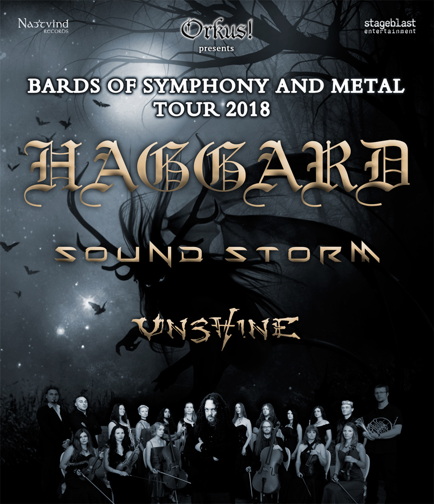 Haggard + Sound Storm + Unshine auf Symphonic Metall Tour 2018