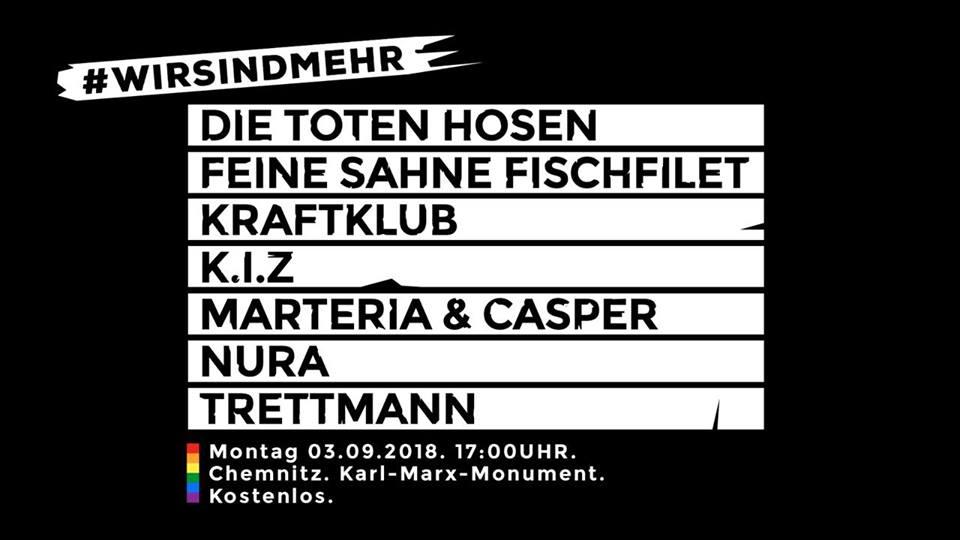 Kraftklub, Die Toten Hosen & Co. für Chemnitz