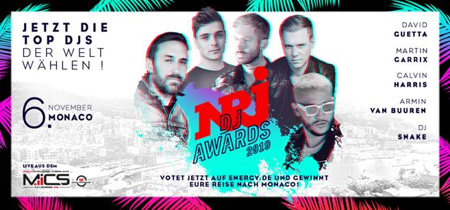 NRJ DJ AWARDS 2019 im November in Monaco