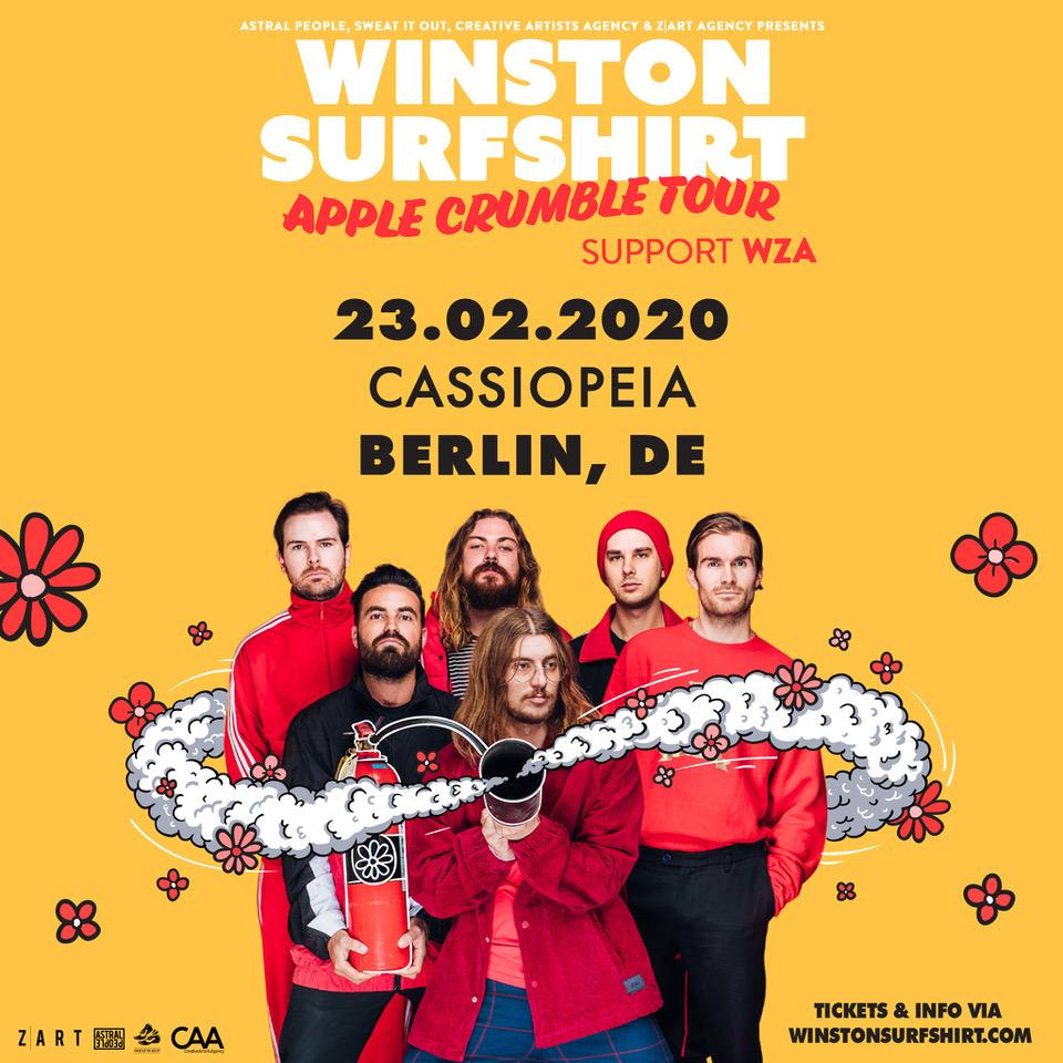 Winston Surfshirt geben ein Konzert in Deutschland