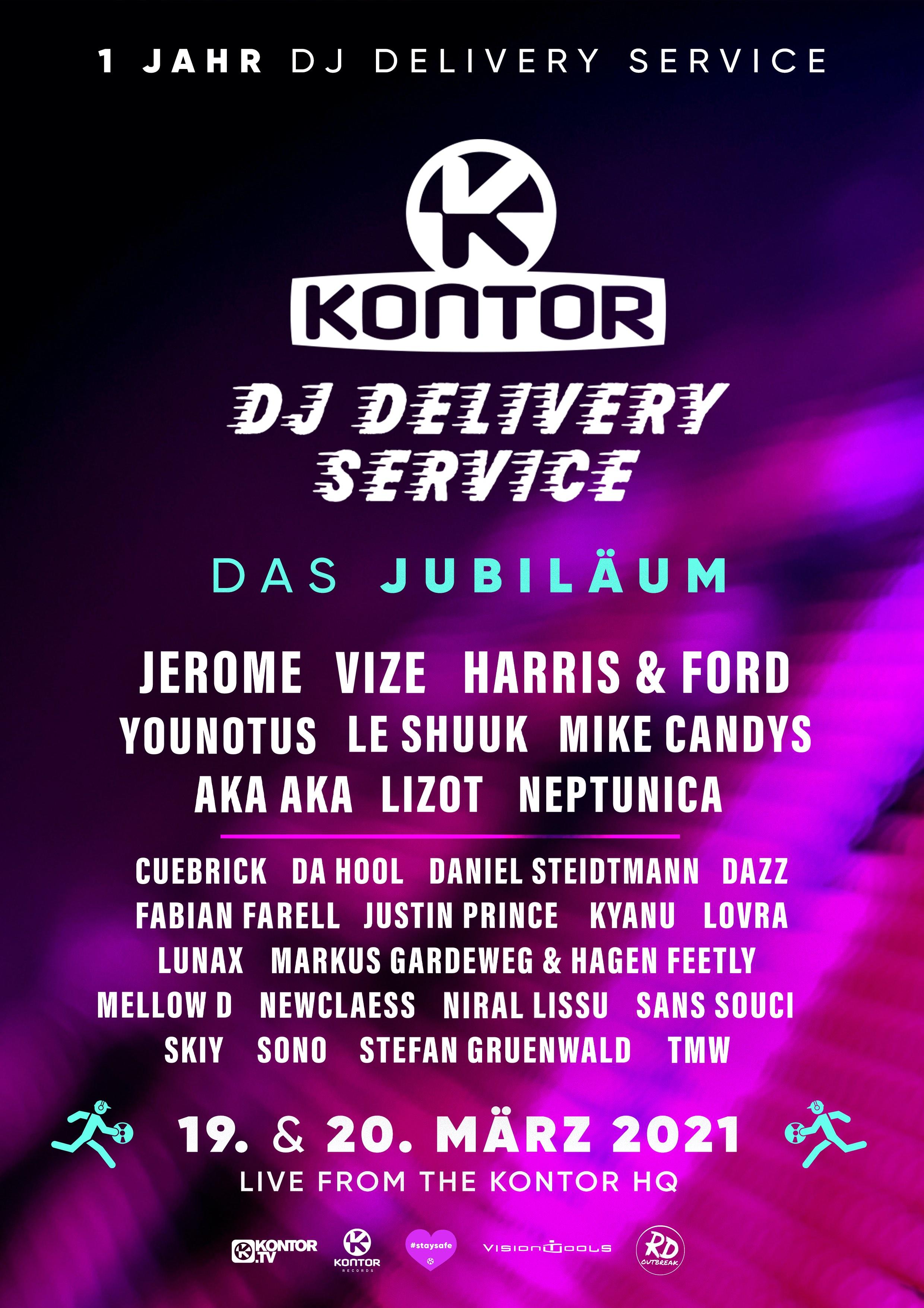Kontor Records feiert Jubilaeum: Ein Jahr Kontor DJ Delivery Service