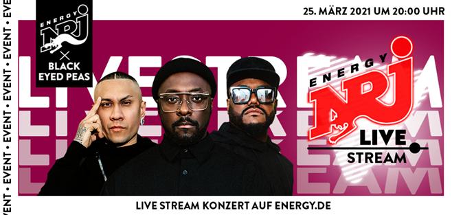 ENERGY bringt die Black Eyed Peas exklusiv zu den Fans nach Hause