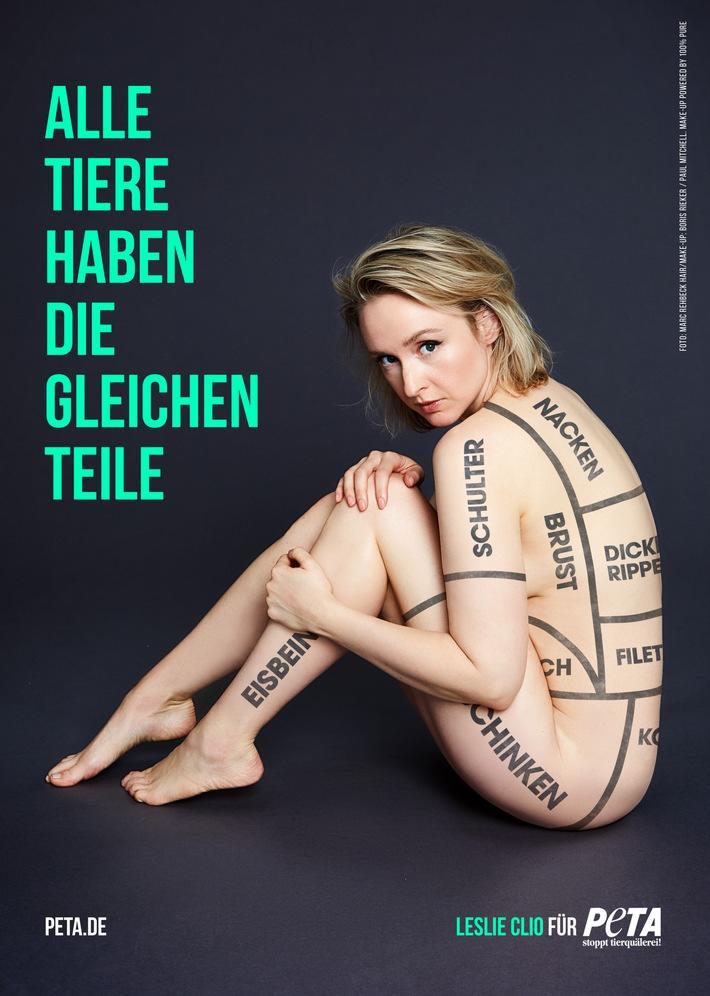 Sängerin Leslie Clio wirbt als PETA-Motiv für veganes Leben