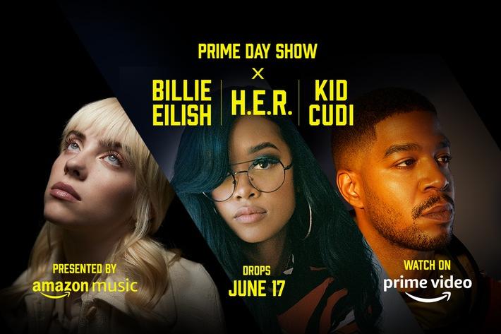 Prime Day Show: Billie Eilish, H.E.R. und Kid Cudi sind dabei
